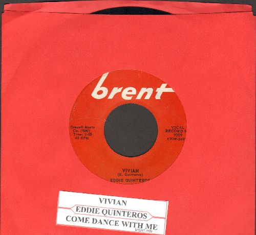 Quinteros, Eddie - Come Dance With Me/Vivian (with juke box label) - EX8/ - 45 rpm Records
