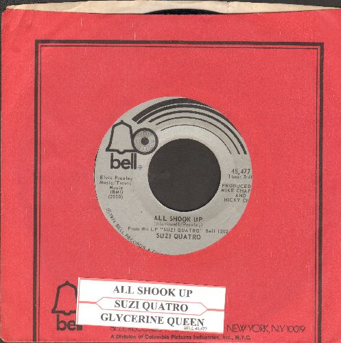 Quatro, Suzi - All Shook Up/Glycerine Queen (with Bell company sleeve and juke box label) - NM9/ - 45 rpm Records
