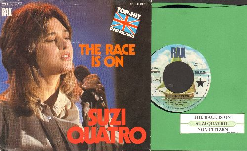 Quatro, Suzi - The Race Is On/Non Citizen (GERMAN Pressing with juke box label and picture sleeve) - NM9/EX8 - 45 rpm Records