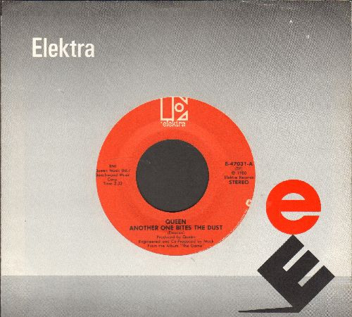Queen - Another One Bites The Dust/Don't Try Suicide (with Elektra company sleeve) - EX8/ - 45 rpm Records
