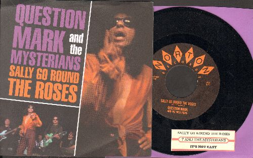Question Mark & The Mysterians - Sally Go Round The Roses/It's Not Easy (double-hit re-issue with juke box label and picture sleeve) - NM9/NM9 - 45 rpm Records