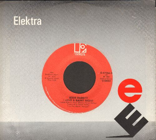 Rabbitt, Eddie - I Love A Rainy Night/Short Road To Love (with Elektra company sleeve) - EX8/ - 45 rpm Records
