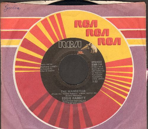 Rabbitt, Eddie - The Wanderer/Workin' Out (with RCA company sleeve) - EX8/ - 45 rpm Records