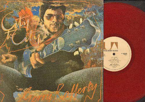 Rafferty, Gerry - City To City: Baker Street, Mattie's Rag, Stealin' Time, The Ark, Home And Dry (Vinyl LP record, RARE RED VINYL Pressing!) - NM9/VG7 - LP Records