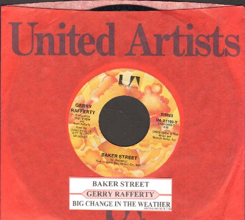 Rafferty, Gerry - Baker Street/Big Change In The Weather (with juke box label and company sleeve) - VG7/ - 45 rpm Records
