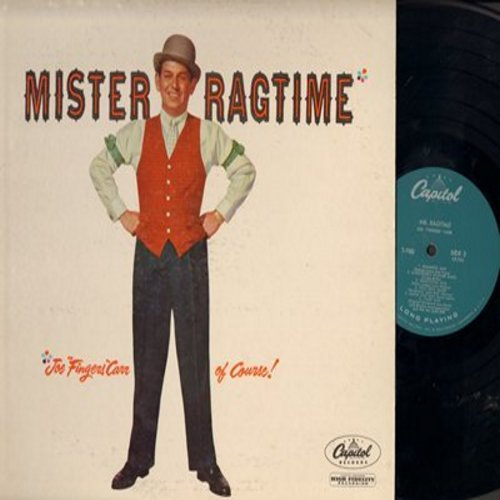 Carr, Joe Fingers - Mister Ragtime: Entertainer's Rag, St. Louis Blues, Twelfth Street Rag, The Old Piano Roll Blues, Alexander's Ragtime Band, Maple Leaf rag, Tiger Rag (turcoise label erly 1950s issue) - NM9/EX8 - LP Records