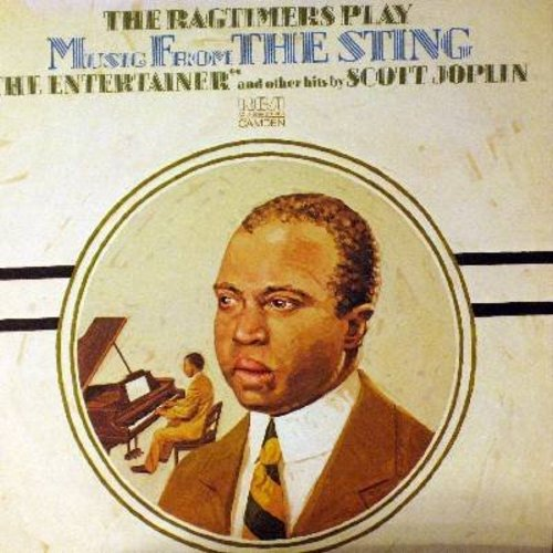 Ragtimers - Music From The Sting - The Entertainer and other hits by Scott Joplin: Maple Leaf Rag, Sugar Cane, Solace, Pineapple Rag (Vinyl STEREO LP record) - NM9/NM9 - LP Records