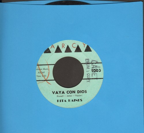 Raines, Rita - Vaya Con Dios/Silently (DJ advance pressing) - EX8/ - 45 rpm Records