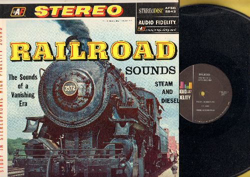 Railroad Sounds - Railroad Sounds - Steam And Diesel Locomotives, The Sound of a Vanishing Era (vinyl STEREO LP record) - NM9/NM9 - LP Records