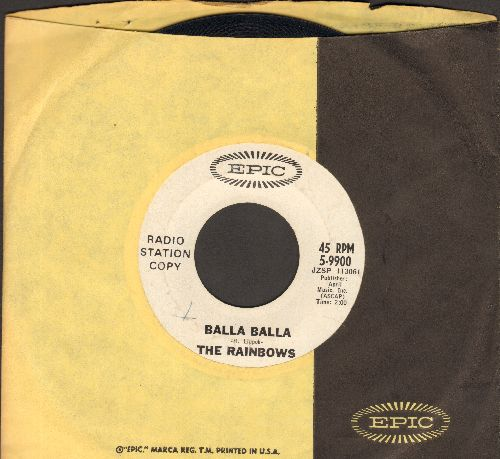 Rainbows - Balla Balla/Ju Ju Hand (DJ advance pressing with Epic company sleeve) - EX8/ - 45 rpm Records