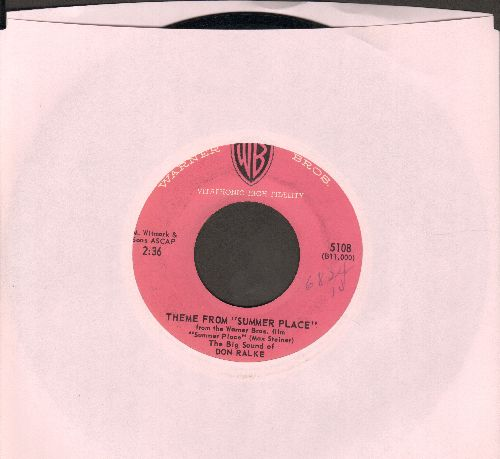 Ralke, Don - Theme From A Summer Place/Bourbon Street Beat - EX8/ - 45 rpm Records