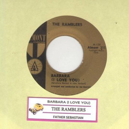 Ramblers - Barbara (I Love You)/Father Sebastian (with juke box label) - EX8/ - 45 rpm Records