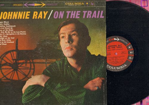 Ray, Johnnie - On The Trail: Wagon Wheels, Tumbling Tubleweeds, Home On The Range, I'm An Old Cowhand, Cool Water (vinyl STEREO LP recor - NM9/VG7 - LP Records