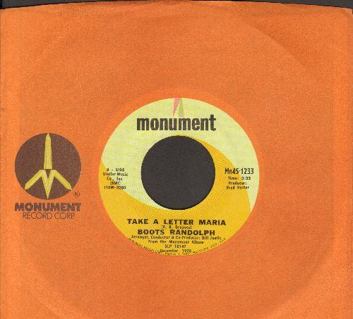 Randolph, Boots - Take A Letter Maria/C. C. Rider (with Monument company sleeve) - NM9/ - 45 rpm Records