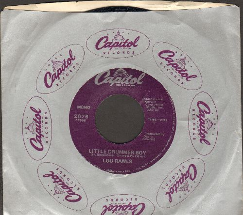 Rawls, Lou - Little Drummer Boy/A Child With A Toy (with Capitol company sleeve) - NM9/ - 45 rpm Records