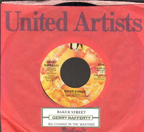 Rafferty, Gerry - Baker Street/Big Change In The Weather (with juke box label and company sleeve) - NM9/ - 45 rpm Records