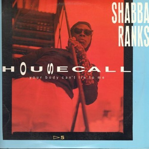 Ranks, Shabba - Housecall (Your Body Can't Lie) - 6 different Extended Dance Club versions, 12 inch 33rpm Maxi Single with picture cover. - M10/NM9 - LP Records