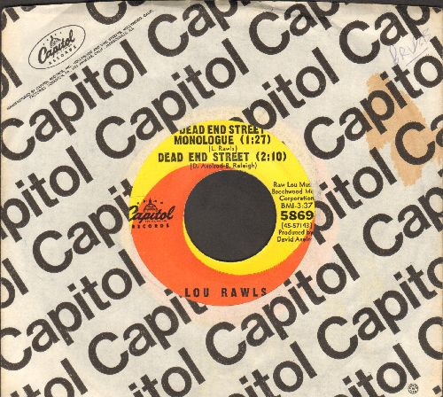 Rawls, Lou - Dead End Street Monologue/Dead End Street/Yes It Hurts - Doesn't It (with Capitol company sleeve) - EX8/ - 45 rpm Records