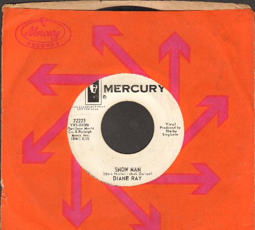Ray, Diane - Snow Man/Just So Bobby Can See (DJ advance pressing with Mercury company sleeve) - VG7/ - 45 rpm Records