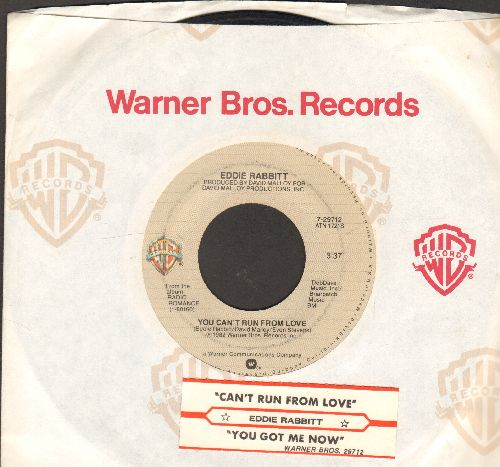 Rabbitt, Eddie - You Can't Run From Love/You Got Me Now (with juke box label and company sleeve) - EX8/ - 45 rpm Records