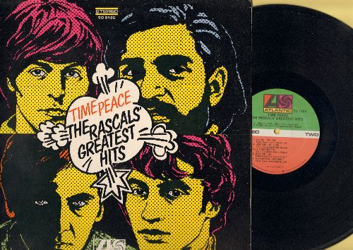 Rascals - Time Peace - The Rascals' Greatest Hits: Good Lovin', Mustang Sally, In The Midnight Hour, Groovin', How Can I Be Sure, A Girl Like You (Vinyl STEREO LP record, gate-fold cover, 1980s pressing) (green and red label) (reissue) - NM9/EX8 - LP Reco
