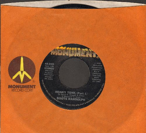 Randolph, Boots - Honky Tonk (Part 1)/Memphis (with Monument company sleeve) - NM9/ - 45 rpm Records