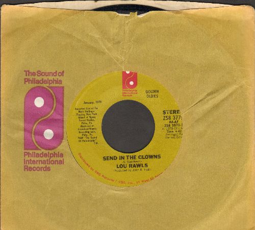 Rawls, Lou - Send In The Clowns/Lady Love (double-hit re-issue with Philaelphia International company sleeve) - NM9/ - 45 rpm Records