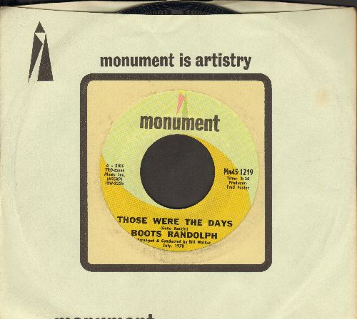 Randolph, Boots - Those Were The Days/Sunday Mornin' Comin' Down (with Monument company sleeve) - NM9/ - 45 rpm Records