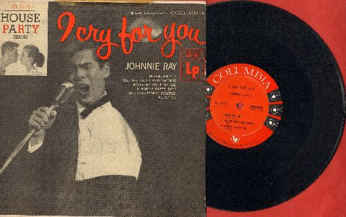 Ray, Johnnie - I Cry For You: Please Mr. Sun, Nobody's Sweetheart, All Of Me + 3 (10 inch LP record with picture cover) - NM9/VG7 - LP Records