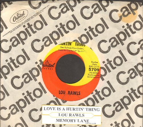 Rawls, Lou - Love Is A Hurtin' Thing/Memory Lane (with Capitol company sleeve and juke box label) - VG7/ - 45 rpm Records
