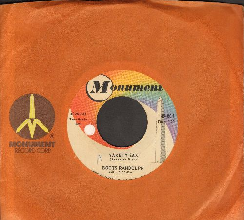 Randolph, Boots - Yakety Sax/I Really Don't Want To Know (with vintage Monument company sleeve) - VG7/ - 45 rpm Records