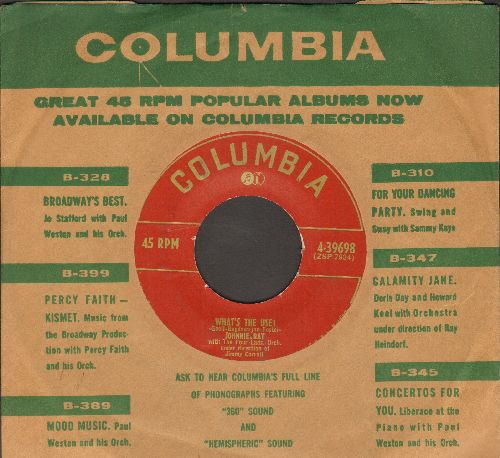 Ray, Johnnie - What's The Use?/Mountains In The Moonlight (with vintage Columbia company sleeve) - VG7/ - 45 rpm Records