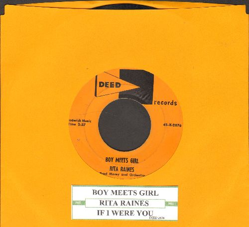 Raines, Rita - Boy Meets Girl/If I Were You (with juke box label) - EX8/ - 45 rpm Records