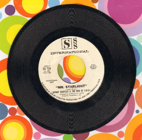 Barfield, Johnny & The Men Of S.O.U.L. - Mr. Starlight (RARE double-A-sided DJ advance pressing) - NM9/ - 45 rpm Records