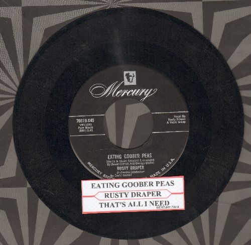 Draper, Rusty - Eating Goober Peas/That's All I Need (with juke box label) - VG7/ - 45 rpm Records