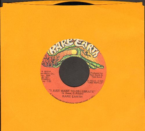 Rare Earth - I Just Want To Celebrate/The Seed - NM9/ - 45 rpm Records