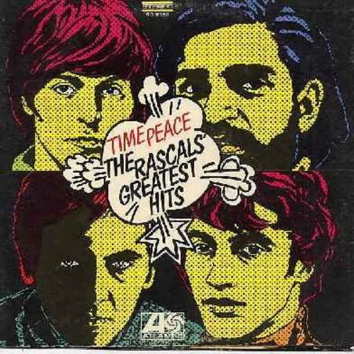 Rascals - Time Peace - The Rascals' Greatest Hits: Good Lovin', Mustang Sally, In The Midnight Hour, Groovin', How Can I Be Sure, A Girl Like You (Vinyl STEREO LP record) (purple & brown label) (unipak) - VG7/VG6 - LP Records