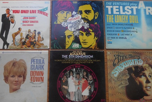 LP Cover 6-Pack - Set #21 includes 6 Vintage LP covers (NO records!) - Exactly as pictured, great for decoration or as replacement covers.  - VG7/ - Supplies
