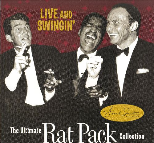 Sinatra, Frank, Dean Martin, Sammy Davis Jr. - LIVE and Swingin' - The Ultimate Rat Pack Collection LIMITED EDITION 12 X 12 inch 2-sided store-display Poster in heavy polypropylene protective sleeve. COLLECTOR'S ITEM! - NM9/ - Poster