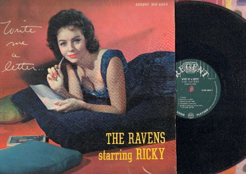 Ravens Starring Ricky - Write Me A Letter: Summertime, September Song, Always, Once In A While, I Don't Know Why (vinyl MONO LP record, RARE 1957 first pressing) - VG7/VG7 - LP Records