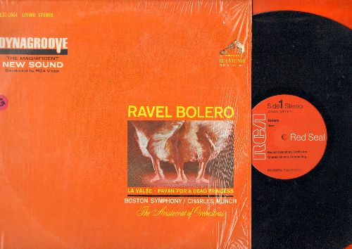 Boston Symphony Orchestra - Bolero - Red Seal label featuring The Boston Symphny Orchestra conducted by Charles Munch (Vinyl LP record, 1970s reissue of vintage recordings, shrink wrap) - NM9/NM9 - LP Records