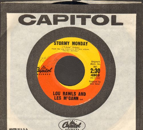 Rawls, Lou - Stormy Monday/Sweet Lover (with Capitol company sleeve) - NM9/ - 45 rpm Records