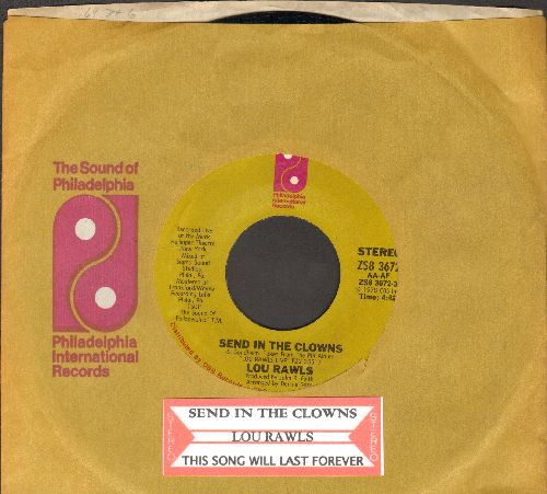 Rawls, Lou - Send In The Clowns/This Song Will Last Forever (with Philaelphia International company sleeve and juke box label)) - NM9/ - 45 rpm Records