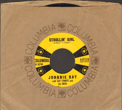 Ray, Johnnie - Strollin' Girl/Plant A Little Seed (with Columbia company sleeve) - EX8/ - 45 rpm Records