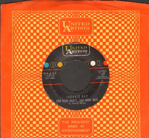Ray, Johnnie - How Many Nights, How Many Days/I'll Bring Along My Banjo (with United Artists company sleeve) - VG7/ - 45 rpm Records