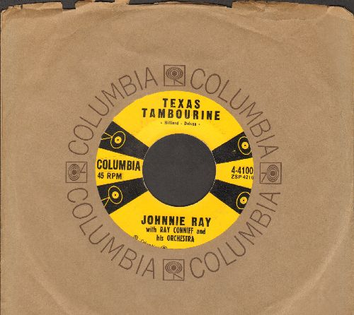 Ray, Johnnie - Pink Sweater Angel/Texas Tambourine (with Columbia company sleeve) - EX8/ - 45 rpm Records