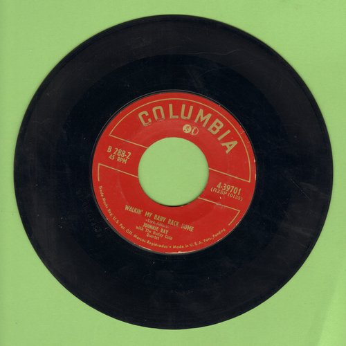 Ray, Johnnie - Walkin' My Baby Back Home/Out In The Cold Again - VG7/ - 45 rpm Records