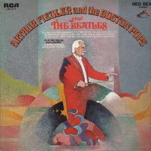 Fiedler, Arthur & The Boston Pops - Arthur Fiedler & The Boston Pops Play The Beatles: I Want To Hold Your Hand, Hey Jude, Eleanor Rigby, Penny Lane, A Hard Day's Night, Consider Yourself (vinyl STEREO LP record) - NM9/EX8 - LP Records
