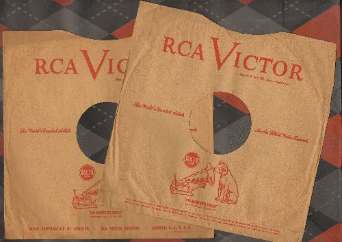 Company Sleeves - 10 inch vintage RCA company sleeves (exactly as pictured), 2 for the price of 1! Enhances and protects you collectable 10 inch 78 rpm record!  - /EX8 - Supplies