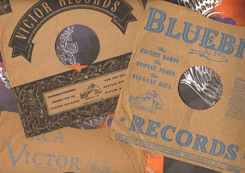 Company Sleeves - 3 Vintage 10 inch RCA company sleeves for 78 rpm records, exactly as pictured! - /VG7/VG7 - Supplies